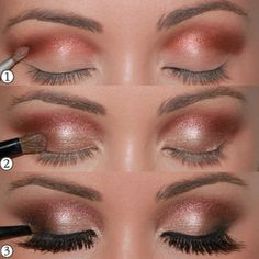 Copper and brown eye makeup - perfect for fall nights out