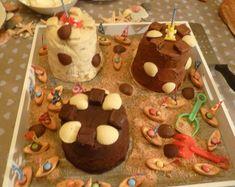 gâteaux châteaux de sable pour l'anniversaire de mon petit Maxime:biscuit chocolat/mousse au chocolat;biscuit citron vert/mousse mangue-passion-ananas;biscuit vanille/bavaroise vanille-framboises