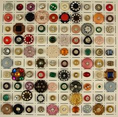 """Oh boy! Going thru Mom's button tin was SO much fun! She gave me a few in a tin one year for Christmas. It was, and still is, one of my favorite gifts. I still get a little """"zing"""" whenever I dig thru them & find that special one with a rhinestone in the center!"""