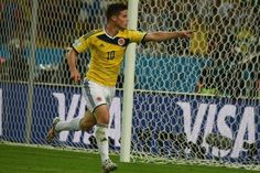 Quantity and quality, James Rodriguez delivers it all. The Colombia dynamo added to his World Cup goal tally with a sublime strike against Uruguay. Football Match, Football Soccer, James Rodriguez Goal, World Football, Fifa World Cup, Superstar, Celebrities, Fitness, Photo Credit