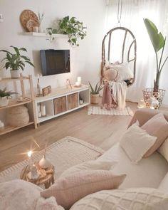 Ideas para poner hamacas en el interior de la casa Living Room Decor Cozy, Boho Living Room, Small Living Rooms, Room Ideas Bedroom, Diy Bedroom Decor, Home Decor, Aesthetic Room Decor, Room Inspiration, Fashion Inspiration