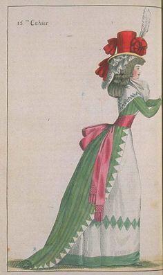 Journal de la Mode et du Gout, July 1790.  That hat!