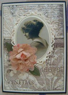 Spellbinders floral ovals & clip art Spellbinders daisy die used to make the flower
