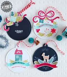 Holiday Tags by Betsy Veldman for Papertrey Ink (September 2014)