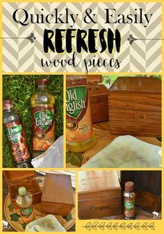 Refresh old wood Pin