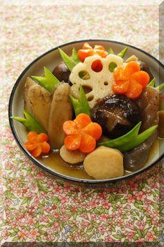 Japanese braised chicken and vegetables 七宝煮(筑前煮 Chikuzen-ni)