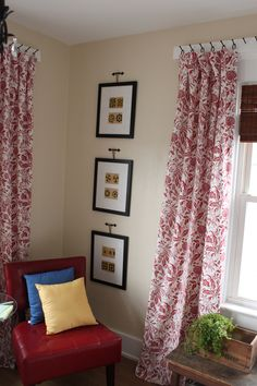 Great list of unconventional ways to hang curtains. Great for curtains that  need to stay put! would work over washer dryer as there is only 1 small wall area on one side going down to floor