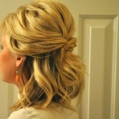 Wedding hair for shorter hair