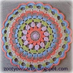 Zooty Owl's Crafty Blog: Dahlia Mandala: Pattern