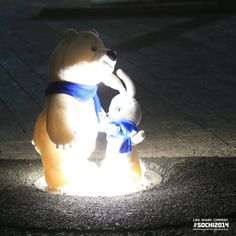 Twitter / Sochi2014: Sochi 2014 Bear celebrated a great day of Olympic competition with a late-night dance in Olympic Park.