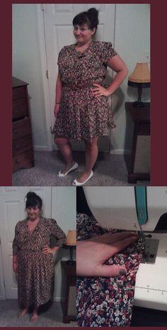 Modifying thrift store dresses