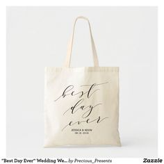 """""""Best Day Ever"""" Wedding Welcome bag,Wedding Favor2 Tote Bag Wedding Hotel Bags, Wedding Welcome Bags, Wedding Favor Bags, Goodie Bags, Best Day Ever, Lakeside Wedding, Dinner Invitations, Tote Bags, Bridal Shower"""