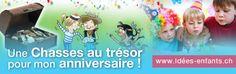 Des chasses au trésor autour de thèmes variées (#chevalier, #princesse, #magicien, #aventurier...) pour amuser les #enfants !