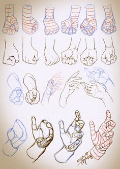 Hand Drawing Reference, Art Reference Poses, Drawing Sketches, Art Drawings, Hand Kunst, Octopus Drawing, Concept Art Tutorial, Hand Sketch, Anatomy Art