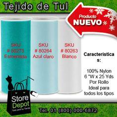 #TelaTulle en color turquesa, perfecta para aplicaciones. Conoce los nuevos productos de #StoreDepot