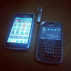 Samsung GalaxyS, Nokia E6, Nokia J Headset
