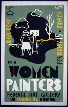 art, exhibition, wpa, federal art project, vintage, vintage posters, graphic design, free download, retro prints, classic posters, WPA Women...