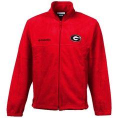 Georgia Bulldogs Columbia Youth Collegiate Flanker Fleece Jacket – Red