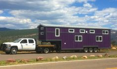 Designed and built by Rocky Mountain Tiny Houses for a family of five is this gooseneck tiny house, the Pemberley. Tiny House Layout, Small Tiny House, Tiny House On Wheels, Tiny House Design, Small House Plans, Small Homes, Tiny Tiny, Tiny House 3 Bedroom, Tiny House Bathroom