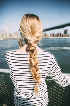 A chunky twisted braid makes for an easy and chic style statement. #hair