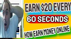 Earn $20 Every 60 Seconds!how earn money online on fiverr without skills