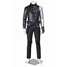 Amazon.com: CosplayDiy Men's Suit for Captain America II: The Winter Soldier Bucky Barnes: Clothing
