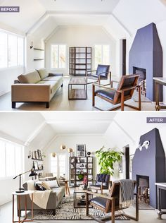How to style with neutrals in a minimal Scandinavian style living room.