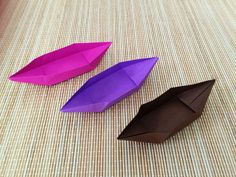 How To Fold A Paper Boat ( Canoe )