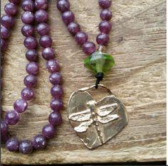 Dragonfly, dragonfly totem, dragonfly mala, dragonfly prayer beads, dragonfly mala, dragonfly rosary, pagan prayer beads, pagan mala by MagickAlive on Etsy