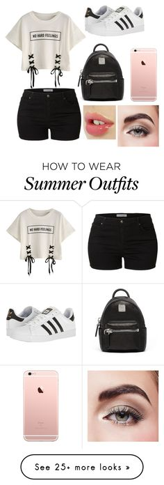 """""""Untitled #18"""" by nastya-yahimowich on Polyvore featuring LE3NO, adidas, MCM and Avon"""