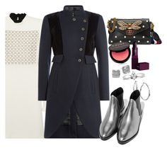 """""""Viable"""" by chelsofly ❤ liked on Polyvore featuring Giambattista Valli, Cambridge Jewelry, Marc by Marc Jacobs, Gucci, Kate Spade, Lipstick Queen, NYX and Blue Nile"""