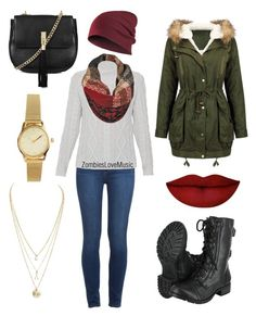 """""""Autumn Attire"""" by zombieslovemusic on Polyvore featuring Paige Denim, Weekend Max Mara, Anastasia Beverly Hills, Topshop and H&M"""