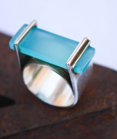 Silver and acrylic ring