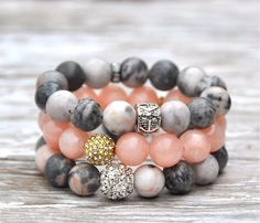 Beaded bracelets make great gifts for Mother's Day & Graduation!