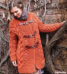 Вязаное пальто дизайнер Нора Гоухан - Вязание - Страна Мам