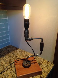 Hand Drill Lamp by RedGrassCreations on Etsy