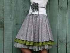 Petticoat & Unterrock - Tüll-Unterrock Petticoat Lagen-Look hellgrau S-XL - ein Designerstück von basia-kollek bei DaWanda