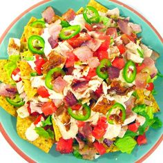 Chicken Nacho Salad~ a salad to crave! Older teens love this stuff!