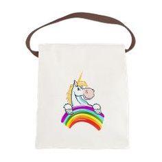 Rainbow Unicorn Birthday Magic Canvas Lunch Bag