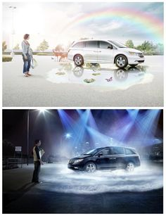 Honda ads shot by Fulvio Bonavia