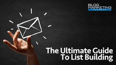 Ultimate guide to email list building in 2016. A very lengthy and effective action plan to help you decide what to offer, how to offer, which tools to use and all other necessary steps to email list building.