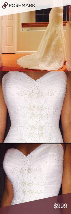 Gorgeous Oleg Cassini wedding dress - size 4 Most beautiful wedding dress  - so elegant and classy!!! Oleg Cassini Dresses Wedding