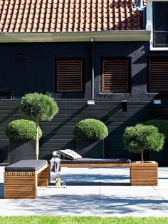Exterior Design, Interior And Exterior, Container Plants, Pergola, Outdoor Structures, Patio, Traditional, Mansions, House Styles