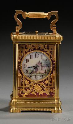 París bronce dorado carro Reloj |