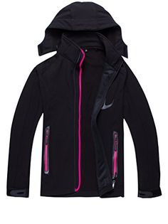 Zestway Women's Winter Warm Mountain Windproof Fleece Jacket Softshell Coat Pink XL >>> Want additional info? Click on the image.