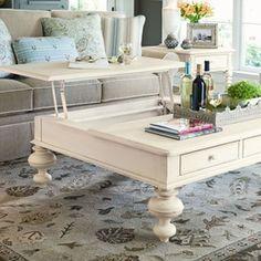 Coffee table ideas.   Paula Deen Home Put Your Feet Up Coffee Table