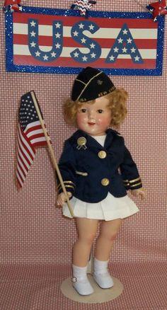 "Patriotic American Legion Shirley Temple Doll 18 "" | eBay"