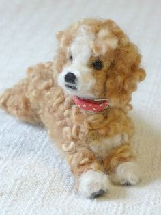 Needle Felted Dog / Personalized gift for pet by GourmetFelted