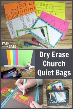 Do you need a quiet activity that can keep your child engaged during a church service or any other place? You need the Dry Erase Church Quiet Bag!