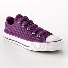 Converse Chuck Taylor All Star Plaid Shoes - Girls